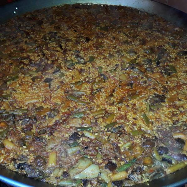Arroz alcachofas,boletus y brocoli.redimensionado